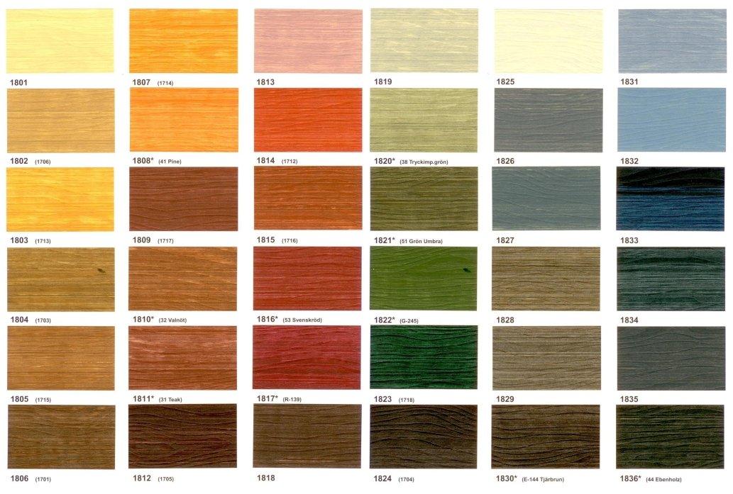 <code>36 стандартных лессирующих цветов.</code>